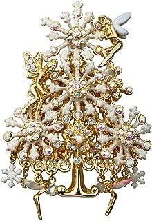 Kirks Folly Susie Snowflake Fairy Christmas Tree PIN Goldtone