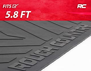 Rough Country Rubber Bed Mat Compatible w/ 2007-2018 Chevy Silverado GMC Sierra 5.8 FT Bed RCM580
