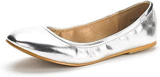 Best silver flat shoes cheap Reviews