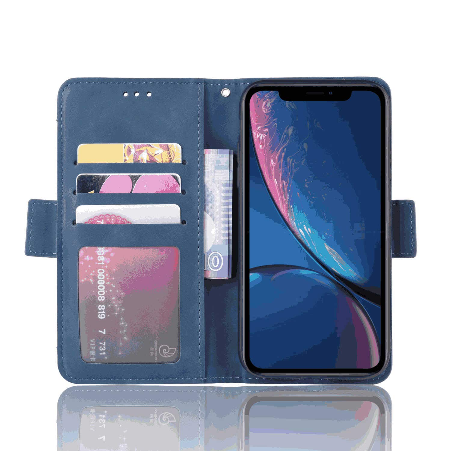 Leather Cover Business Gifts Wallet with Extra Waterproof Underwater Case Flip Case for iPhone 8 Plus
