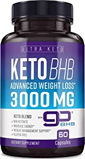 Best Keto Diet Pills - Utilize Fat for Energy with Ketosis - Boost Energy & Focus, Manage Cravings, Support Metabolism - K...