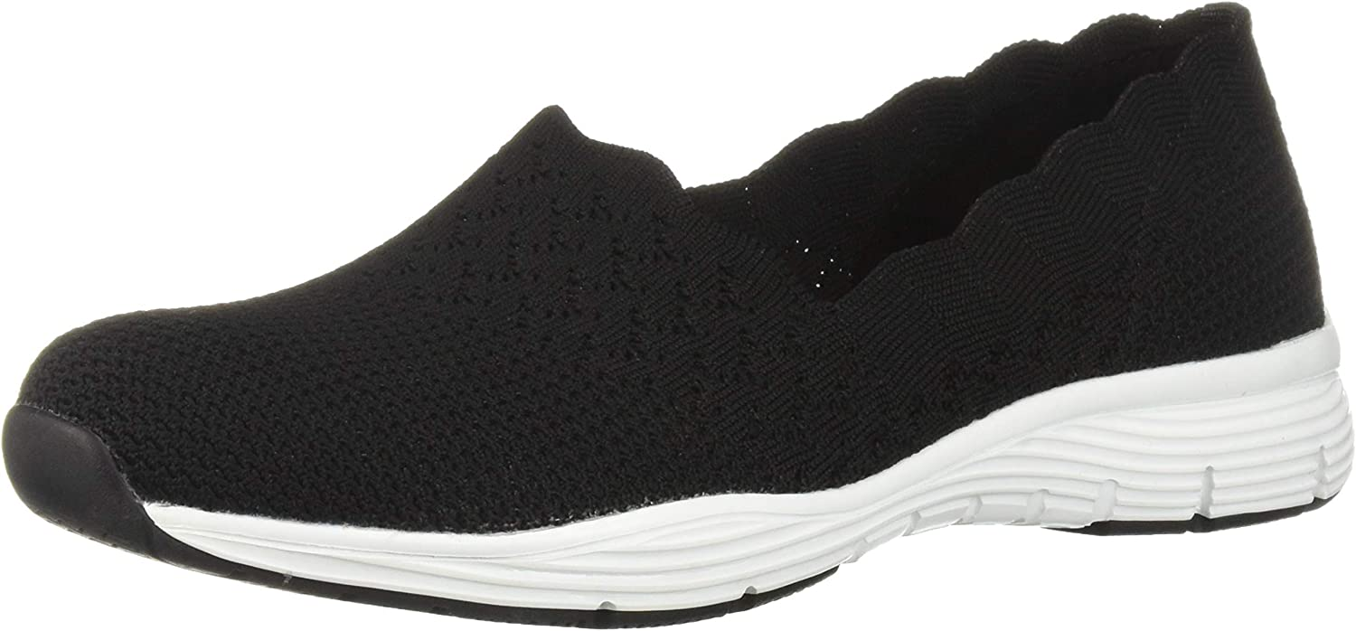 Skechers Womens Seager - STAT - Scalloped Collar, Engineered Skech-Knit Slip-On - Classic Fit Loafer