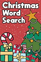 Christmas Word Search: Happy Holiday Edition Challenging Puzzle Game Activity Book A Small Travel Size With Merry Xmas Tre...