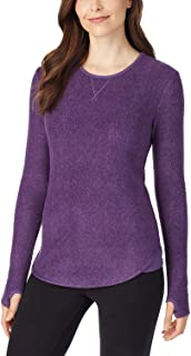 Cuddl Duds Fleece Thermal Top, Purple, Women's Size S (6-8)