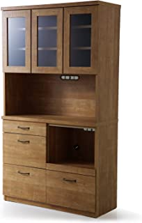 LOWYA ロウヤ 食器棚 キッチン キッチン収納 国産 幅101×高さ181cm アンティークナチュラル