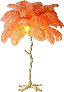 GQCTXHZ Lampadaire à Plumes de 79 Pouces, Lampes sur Pied à 3 Températures de Couleur Réglables Nordiques Vintage avec Int...