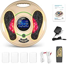 Medical Foot Massager Machine - Feet Legs Circulation Devices Using EMS and TENS Stimulator, Electrical Muscle Pulse Massage Therapy, Electric Foot Reflexology, Relieve Pain for Neuropathy