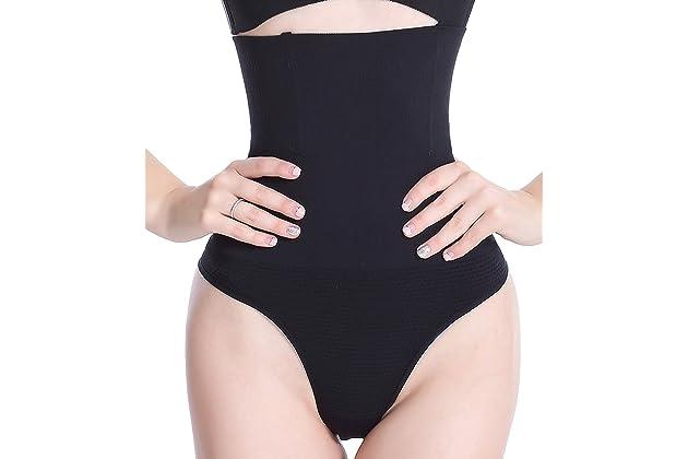 b2c0a19503576 Hioffer 328 Women Waist Cincher Girdle Tummy Slimmer Sexy Thong Panty  Shapewear