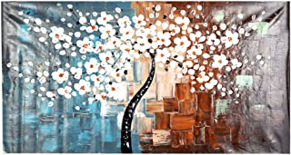 60 * 120cm Unframed Hand-painted Oil Painting Set Flower Tree Canvas Print Decoration for Home Living Room Bedroom Office ...