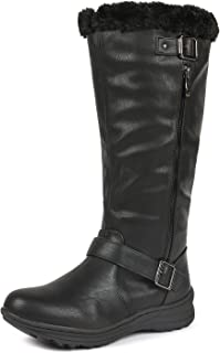Women's Winter Fully Fur Lined Zipper Closure Snow Knee High Boots