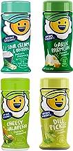 Kernel Seasons 4 Pack Seasoning Kit (Sour Cream & Onion,Garlic Parmesan,Cheesy Jalapeño, Dill Pickle)