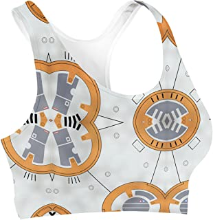 Rainbow Rules Little Round Droid Sports Bra