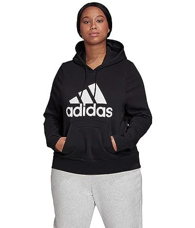 adidas Plus Size Badge of Sport Hoodie (Black) Women