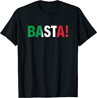 Michael Avenatti T Shirt BASTA Italian Flag Top ENOUGH