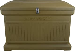 RTS Home Accents Parcelwirx Premium Horizontal Delivery Drop Box w/Hinged Lid, Oak