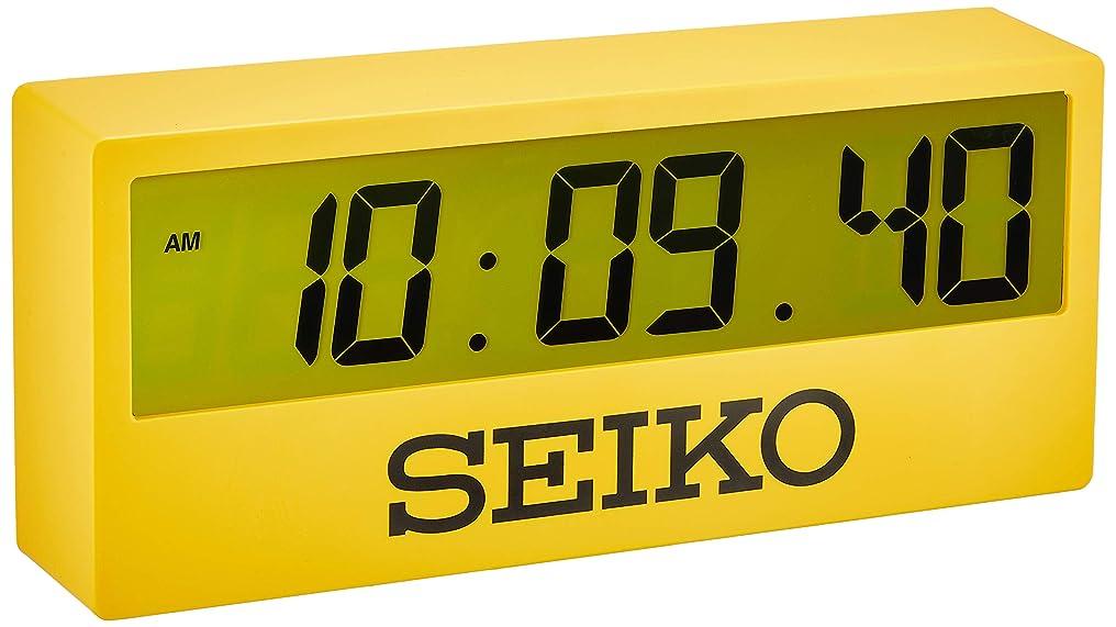 フォージ香ばしい適度なセイコークロック 掛時計 黄色 125×290×61mm デジタル スポーツタイマーデザイン掛時計 SQ816Y
