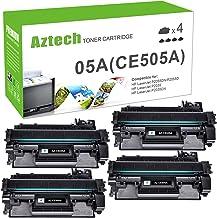 Best AZTECH Compatible Toner Cartridge Replacement for HP 05A CE505A Laserjet P2035 P2035N P2055DN (Black, 4-Pack) Review
