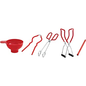 HIC Home Canning Supplies Kit, 5-Piece Set Includes Canning Funnel
