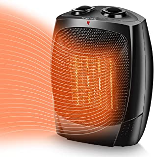 TRUSTECH Space Heater, 1500W Portable Heater, Up to 200sq, 3 Modes Adjustable, Tip-Over..