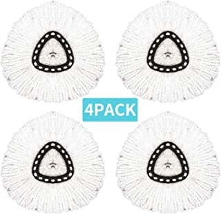 4 Pack Replacement Mop Head for OCedar Microfiber Spin Mop Head Refill for Universal 360° Spin Magic Mop,Fit O Cedar EasyWring Mop Easy Cleaning Mop Head Replacement-(White)
