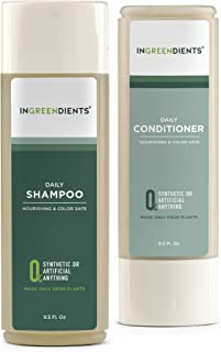 Organic Vegan Sulfate Free Shampoo and Conditioner For Sensitive Skin and Scalp For All Hair Types - 100% FROM PLANTS, 100...