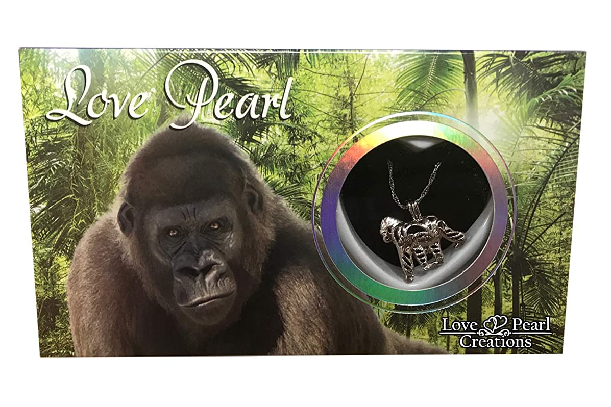 Love Pearl Creations Animals Wish Kit with Pendant Necklace (Gorilla)