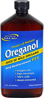 North American Herb and Spice Oreganol Juice of Wild Oregano - 12 fl oz -pack of 5