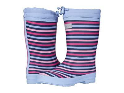Hatley Kids Rainbow Stripe Sherpa Lined Rain Boots (Toddler/Little Kid) (Purple) Girl