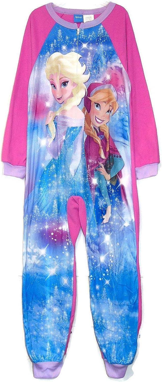 Disney Frozen Elsa and Anna Fleece Footless Pajama Sleeper, Size 7/8