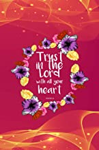Recipe Journal Baking Pastry Notebook - Trust In The Lord Scriptural Quote Biblical Christian