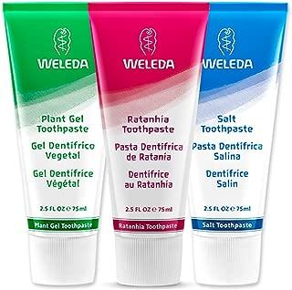 Weleda Plant-Rich Toothpaste 3-Piece Set: Salt Toothpaste, Plant Gel Toothpaste and Ratanhia Toothpaste- 2.5 fl oz each