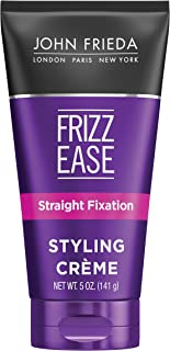 John Frieda Frizz-Ease Straight Fixation Styling Creme, Straight Hair Product for Smooth, Silky, No-Frizz Hair, 5 Ounces