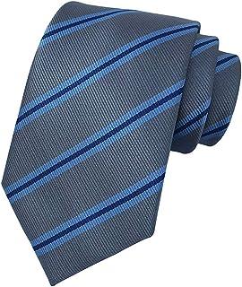MENDENG New Mens Stripe Paisley 100% Silk Necktie Classic Striped Formal Ties