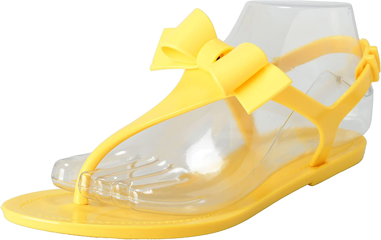 Red Valentino Women's Yellow Rubber Strappy Sandals shoes