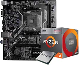 AMD Ryzen 5 3400G (OEM Pack) Desktop Processor 4 Cores up to 4.2GHz Bundled with Galax A320M Motherboard