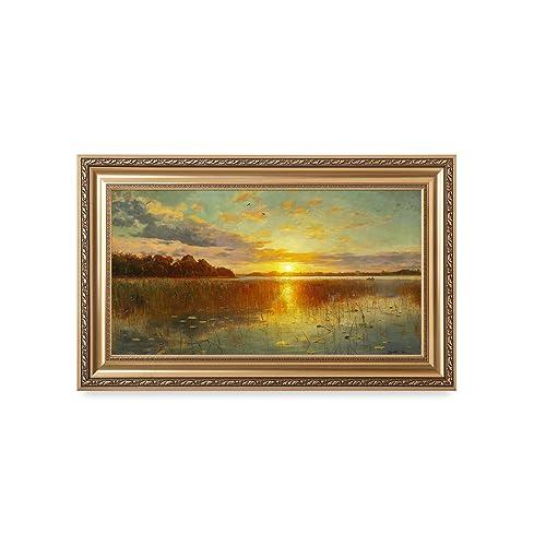 d4addb0c04e9 DECORARTS - Sunset Over a Danish Fjord