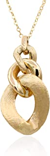 Collana oro donna. Girocollo con maglia a grumetta centrale cesellato a mano. Oro 14k peso gr 4.7