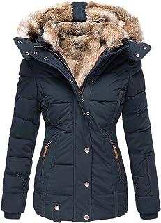Women Jackets Winter Coat Warm Outwear,Ladies Long Trench Coat Plus Size Button Lapel Coat Parka Jacket Overcoat