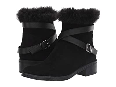 Vaneli Rees Waterproof (Black Waterproof Suede/Black Faux fur) Women