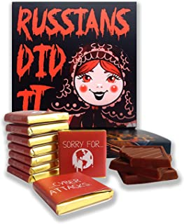 DA CHOCOLATE Candy Souvenir Funny Food Gift RUSSIANS DID IT Nice Joke Chocolate Set 5x5in 2.82 Oz 1 box (0308)