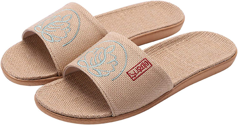 URYY Tatami Floor Shoes Women's and Men's Anti-slip Linen Casual Sandals Flip-flop for Bedroom Yoga Mat