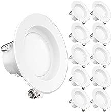 Sunco aydınlatma 12W 4-inç Energy Star UL-Listed kısılabilir LED gömme lamba modernize Gömme Lamba-4000K Cool Beyaz LED tavan lambası–-650LM bir parçası, başlık 24, RoHS, 5yıl garanti, CECOMINOD073035, 40.0