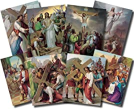 Stations of The Cross Poster Lithography in 7 Colors 14 Pictures To a Set
