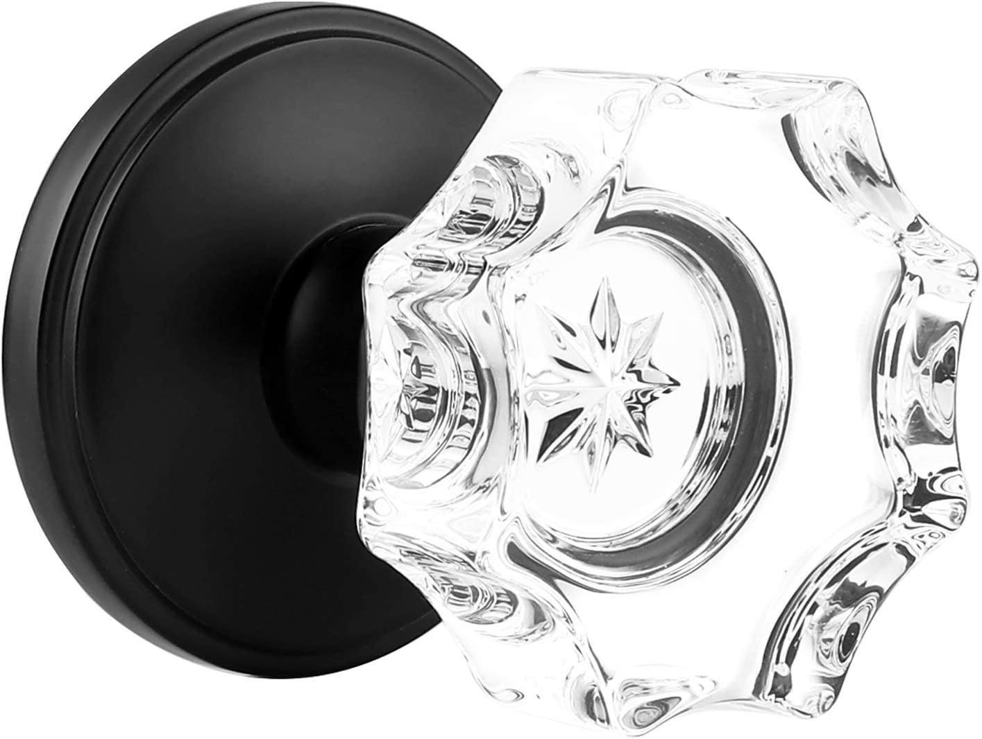GOBEKOR Attention brand 5 Pack Real Crystal Door Knob Glass Passa Sets Safety and trust Lock with