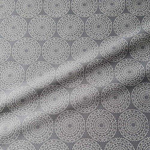 Stoff Baumwollstoff Meterware grau weiß Mandala Vehlo Kleiderstoff Dekostoff