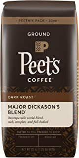 Peet's Coffee Major Dickason's Blend, Dark Roast Ground Coffee, 20 oz