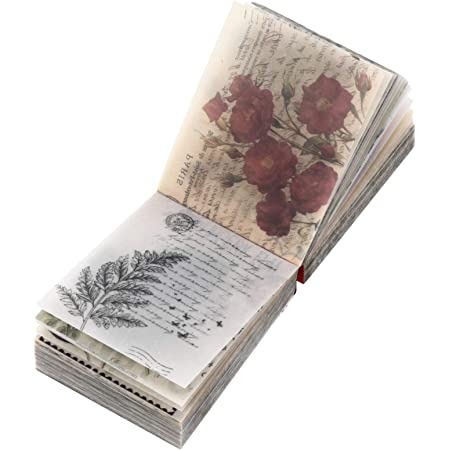 Artibetter 365 Feuilles Vintage Scrapbooking DIY Matériel Papier Journal Journal DIY Embellissement Fournitures pour Scrapbooking Et de L' Artisanat