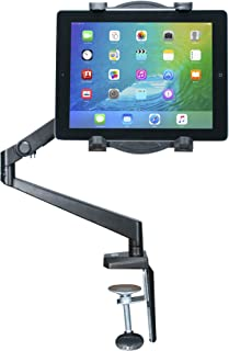 CTA Digital PAD-TAM Tabletop Arm Mount for 7-12-Inch Tablets, including the iPad 10.2-Inch (7th Gen), 11-inch iPad Pro (2018), iPad Gen. 6 & 5 & More