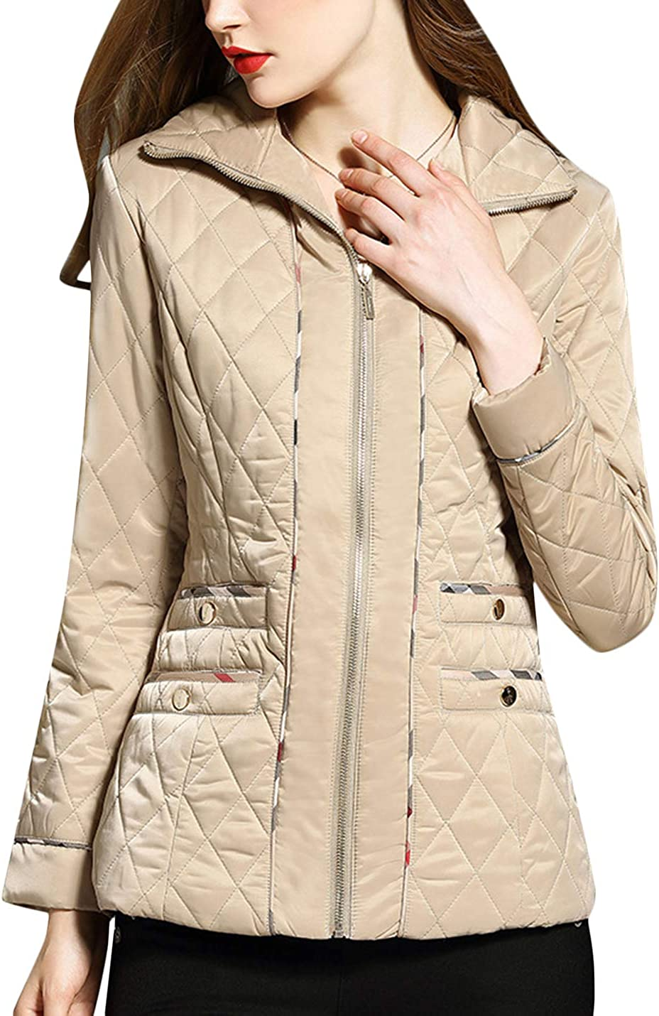 Uaneo Women's Winter Diamond gift Quilted Jacket Warm Outwear Coats Sale SALE% OFF