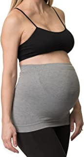 Belevation Womens Maternity Support Belly Band (Gray, (M) 6-10)